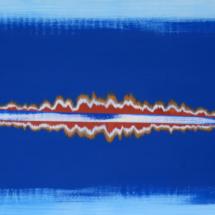mirage blue | acrylic on wood, 2oo x 6o cm
