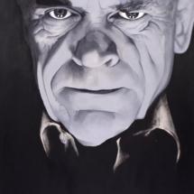 hypnotist | oil on plywood, 1oo x 13o cm