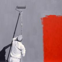 painter | oil on hardboard, 13o x 1oo cm