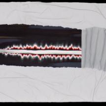 return to sender | mixed media on hardboard, 2oo x 6o cm