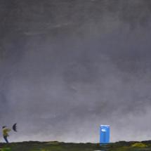 stormy field | oil on hardboard, 1oo x 13o cm