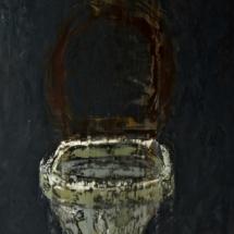 toilet | oil on hardboard, 6o x 9o cm