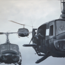 helicopters 2, oil on canvas, 15o x 12o cm