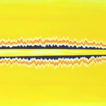 mirage yellow | acrylic on wood, 2oo x 6o cm