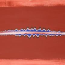 mirage red | acrylic on wood, 2oo x 6o cm