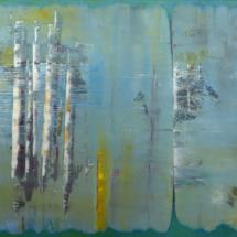 abstract #7 | oil on hardboard, 120 x 80 cm