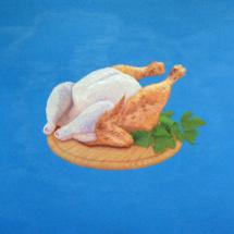 chicken 69 | oil on canvas, 140 x 100 cm