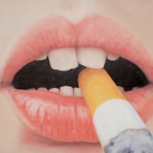 cigarette | oil on canvas, 1oo x 95 cm