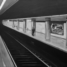 subway o2 | acrylic on canvas, 6o x 5o cm