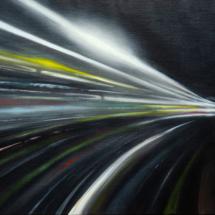 tunnel | oil on canvas, 7o x 5o cm